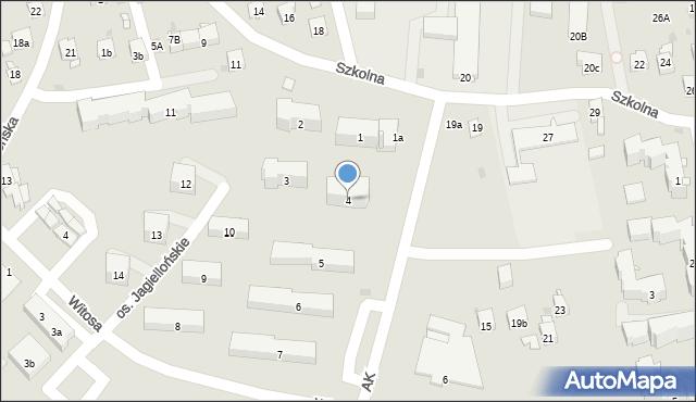 Dobczyce, Osiedle Jagiellońskie, 4, mapa Dobczyce