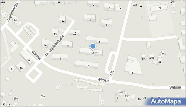 Dobczyce, Osiedle Jagiellońskie, 6, mapa Dobczyce
