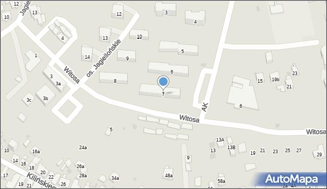 Dobczyce, Osiedle Jagiellońskie, 7, mapa Dobczyce