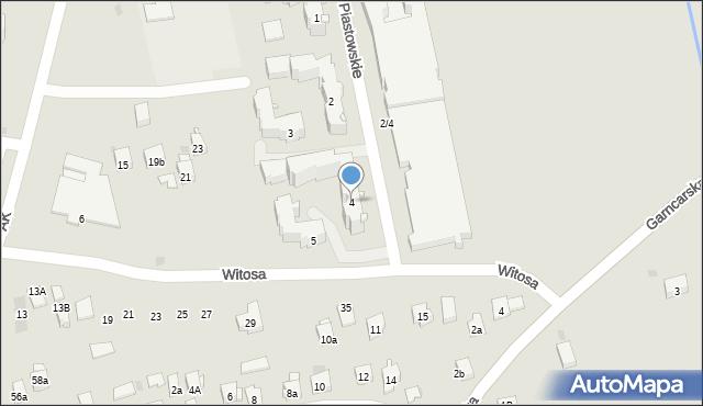 Dobczyce, Osiedle Piastowskie, 4, mapa Dobczyce