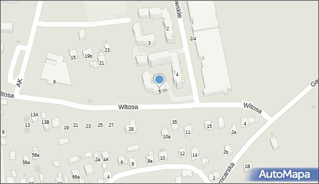 Dobczyce, Osiedle Piastowskie, 5, mapa Dobczyce