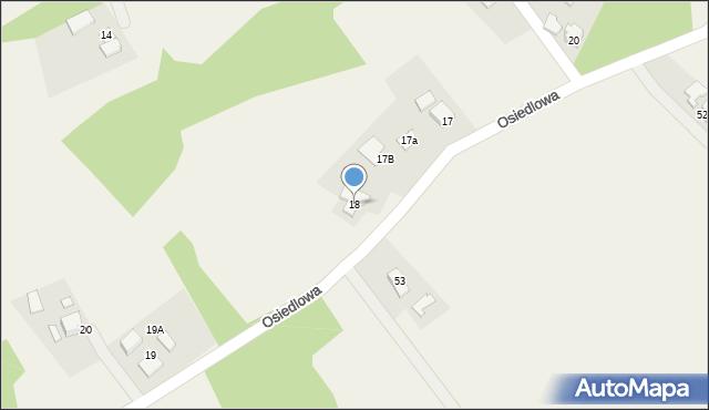 Frydrychowice, Osiedlowa, 18, mapa Frydrychowice