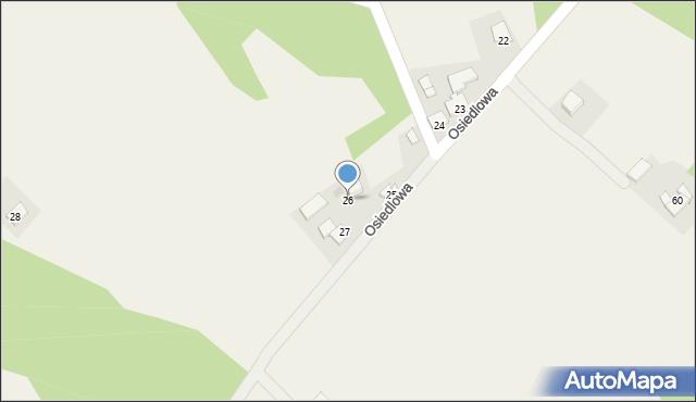 Frydrychowice, Osiedlowa, 26, mapa Frydrychowice