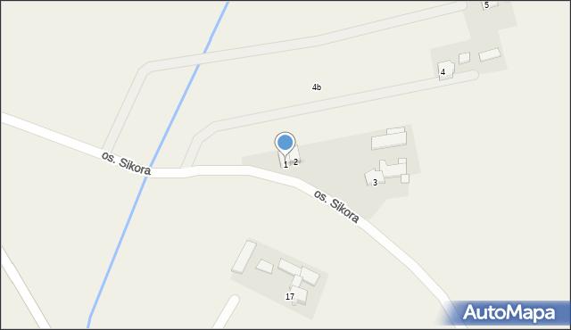 Gierałtowice, Osiedle Sikora, 1, mapa Gierałtowice
