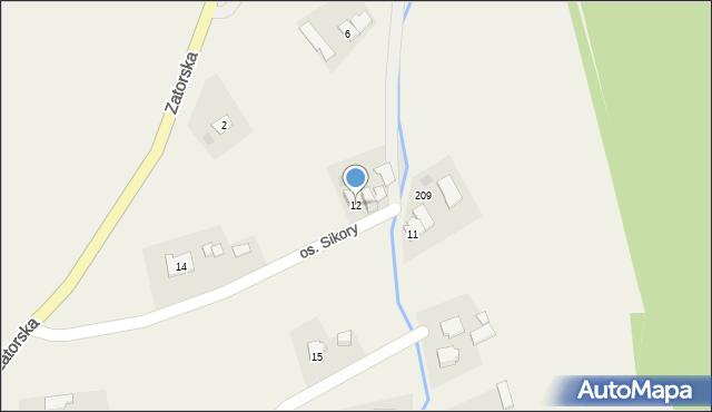 Gierałtowice, Osiedle Sikora, 12, mapa Gierałtowice
