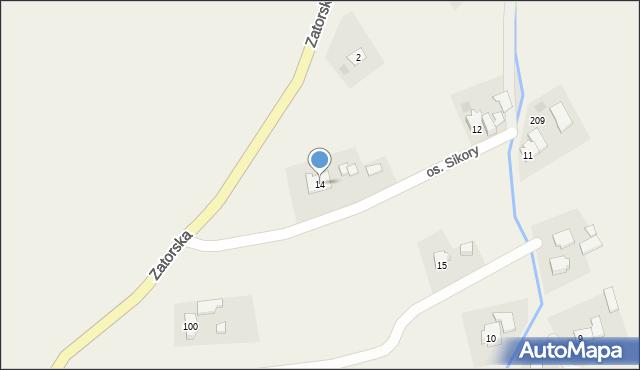 Gierałtowice, Osiedle Sikora, 14, mapa Gierałtowice