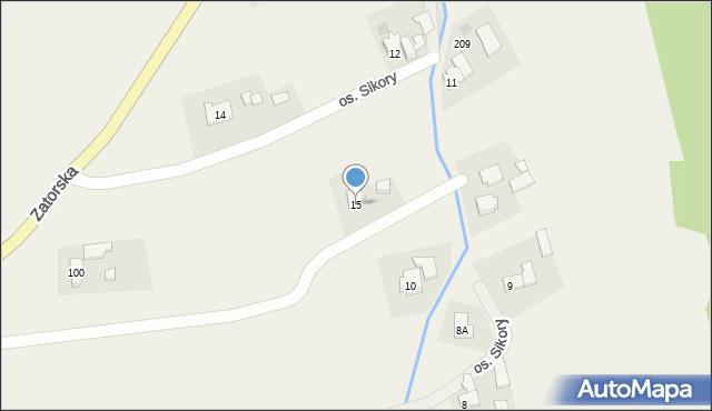 Gierałtowice, Osiedle Sikora, 15, mapa Gierałtowice