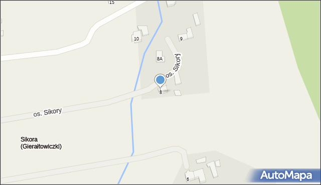 Gierałtowice, Osiedle Sikora, 8, mapa Gierałtowice