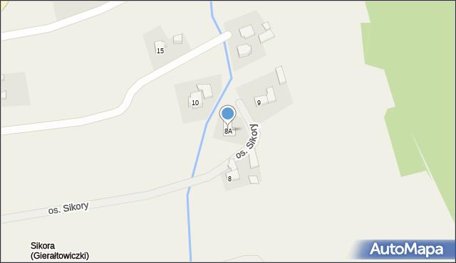 Gierałtowice, Osiedle Sikora, 8A, mapa Gierałtowice