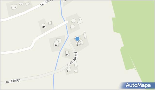 Gierałtowice, Osiedle Sikora, 9, mapa Gierałtowice