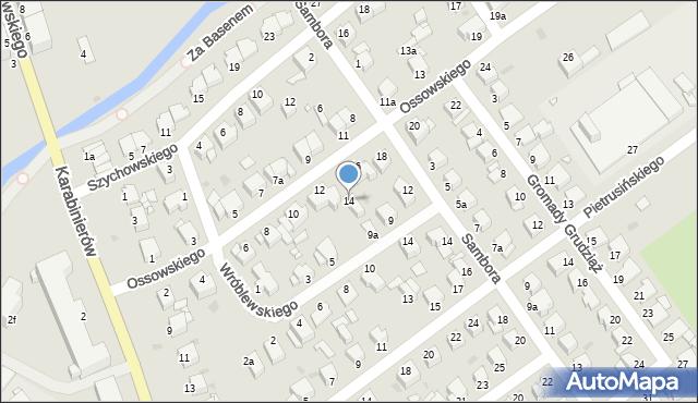 Grudziądz, Ossowskiego, 14, mapa Grudziądza