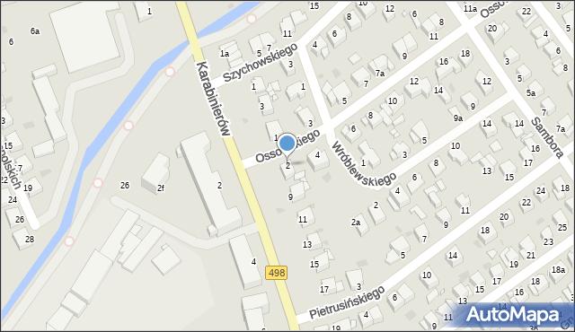 Grudziądz, Ossowskiego, 2, mapa Grudziądza