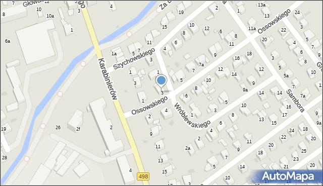 Grudziądz, Ossowskiego, 3, mapa Grudziądza