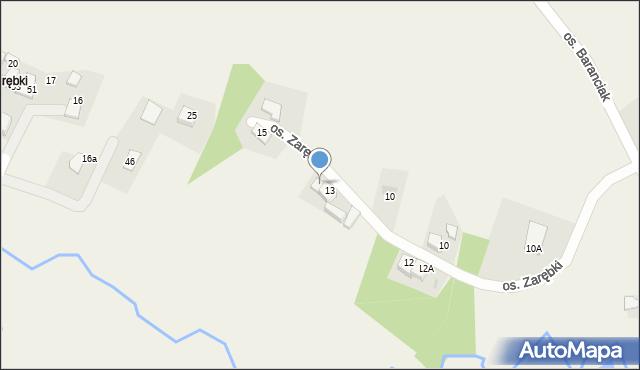 Inwałd, Osiedle Korcza, 10A, mapa Inwałd