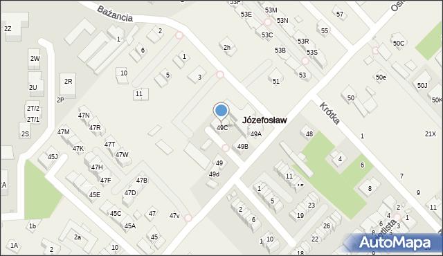 Józefosław, Osiedlowa, 49C, mapa Józefosław