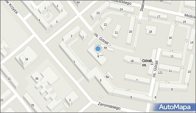 Kraków, Osiedle Górali, 4, mapa Krakowa