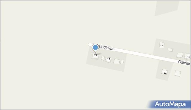 Krępice, Osiedlowa, 19, mapa Krępice