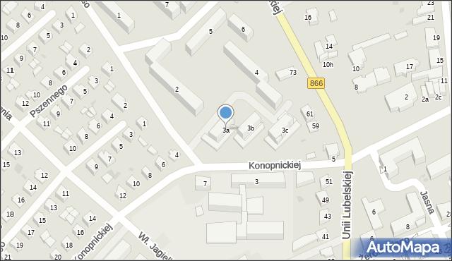 Lubaczów, Osiedle Unii Lubelskiej, 3a, mapa Lubaczów