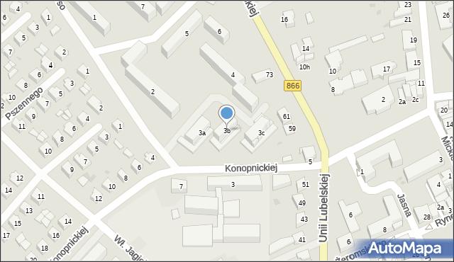 Lubaczów, Osiedle Unii Lubelskiej, 3b, mapa Lubaczów