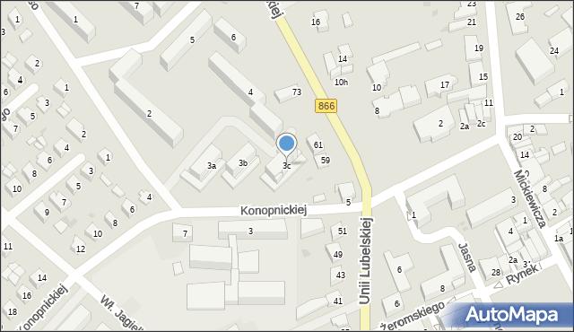 Lubaczów, Osiedle Unii Lubelskiej, 3c, mapa Lubaczów
