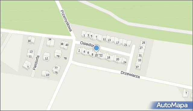 Luzino, Osiedlowa, 10, mapa Luzino