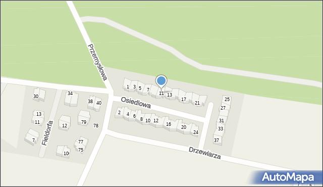 Luzino, Osiedlowa, 11, mapa Luzino