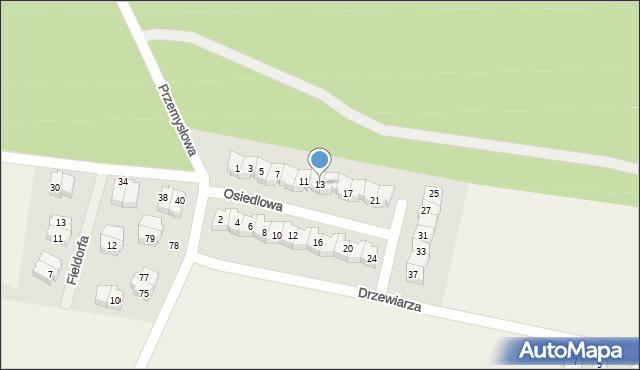 Luzino, Osiedlowa, 13, mapa Luzino