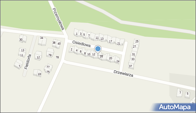 Luzino, Osiedlowa, 14, mapa Luzino