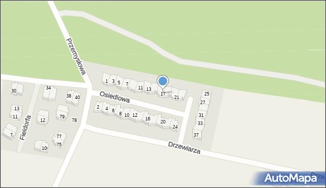 Luzino, Osiedlowa, 17, mapa Luzino