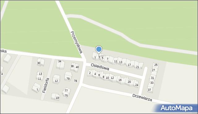 Luzino, Osiedlowa, 3, mapa Luzino