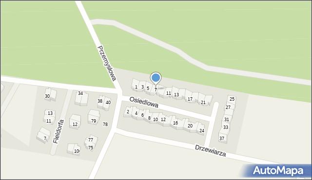 Luzino, Osiedlowa, 7, mapa Luzino