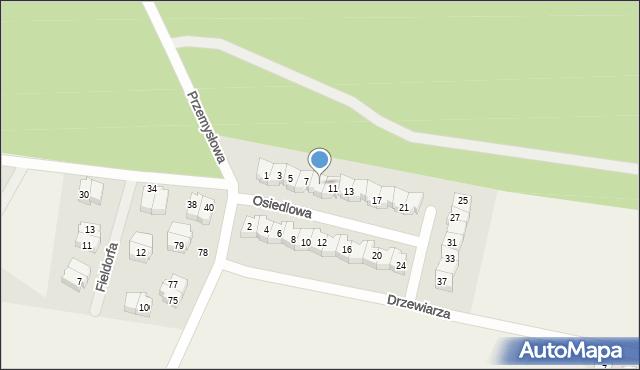 Luzino, Osiedlowa, 9, mapa Luzino