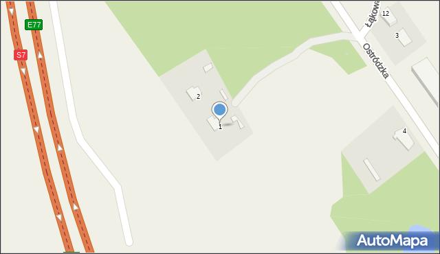 Małdyty, Ostródzka, 1, mapa Małdyty