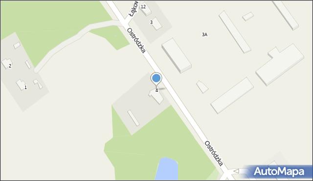 Małdyty, Ostródzka, 4, mapa Małdyty