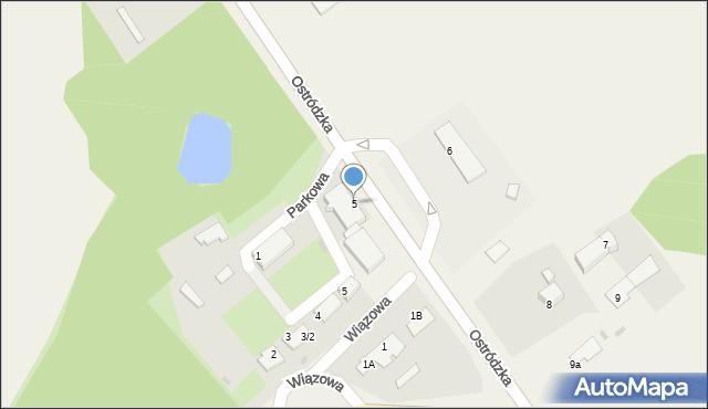 Małdyty, Ostródzka, 5, mapa Małdyty