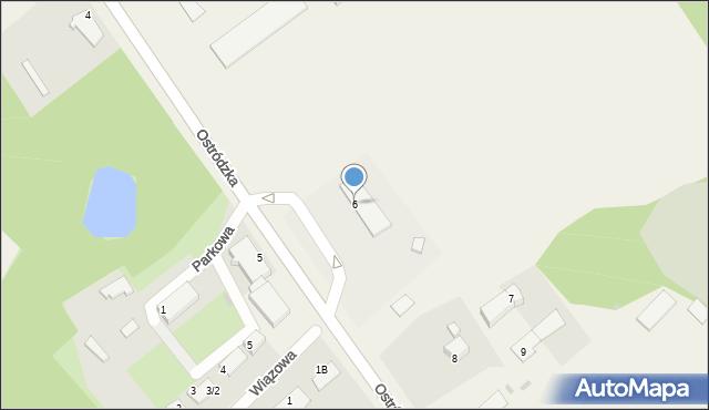 Małdyty, Ostródzka, 6, mapa Małdyty