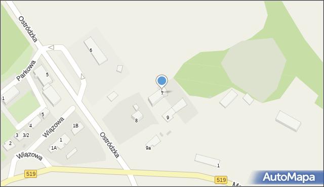 Małdyty, Ostródzka, 7, mapa Małdyty