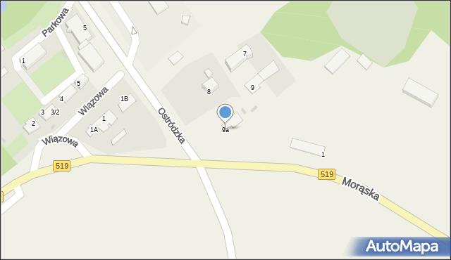 Małdyty, Ostródzka, 9a, mapa Małdyty