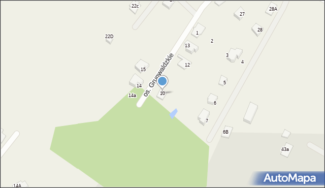 Nowa Wieś, Osiedle Grunwaldzkie, 10, mapa Nowa Wieś