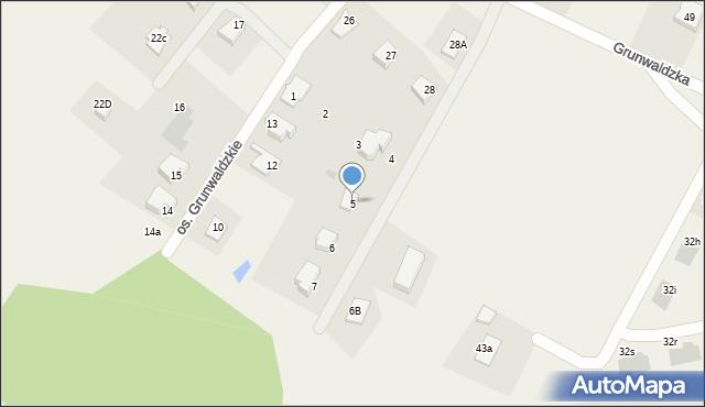 Nowa Wieś, Osiedle Grunwaldzkie, 5, mapa Nowa Wieś