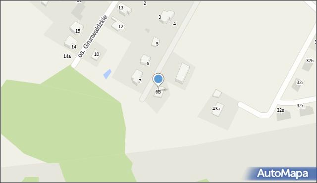 Nowa Wieś, Osiedle Grunwaldzkie, 6B, mapa Nowa Wieś