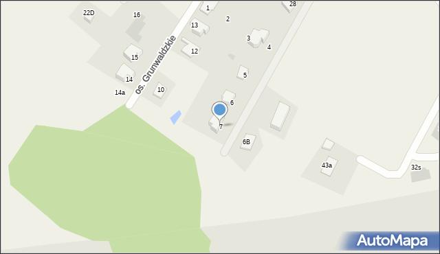 Nowa Wieś, Osiedle Grunwaldzkie, 7, mapa Nowa Wieś