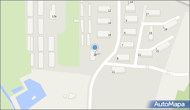 Olecko, Osiedle Lesk, 18, mapa Olecko