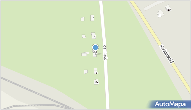 Olecko, Osiedle Lesk, 6/2, mapa Olecko