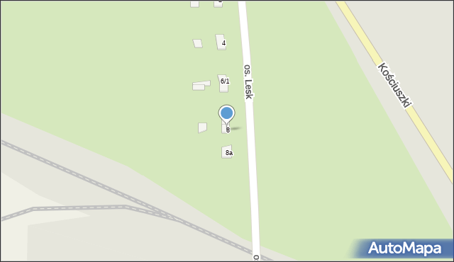 Olecko, Osiedle Lesk, 8, mapa Olecko