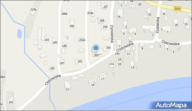 Ostrów, Ostrów, 203, mapa Ostrów