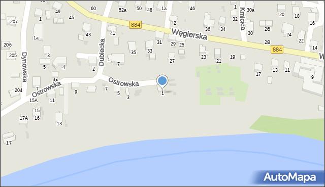 Przemyśl, Ostrowska, 1, mapa Przemyśla