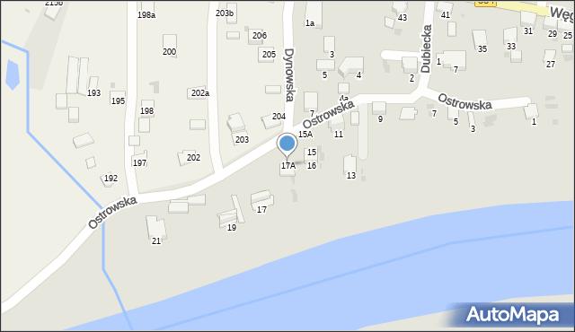 Przemyśl, Ostrowska, 17A, mapa Przemyśla