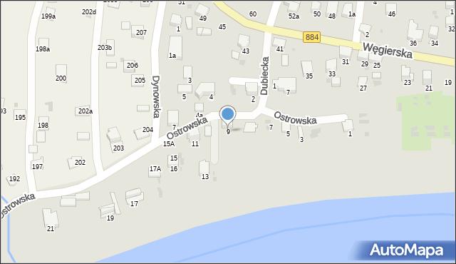 Przemyśl, Ostrowska, 9, mapa Przemyśla