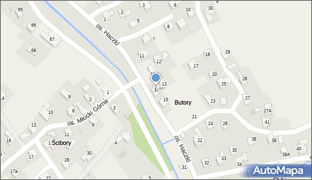 Rzyki, Osiedle Haczki, 14, mapa Rzyki